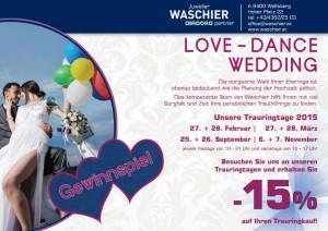 Love Dance Wedding - Trauringtage bei Juwelier Waschier